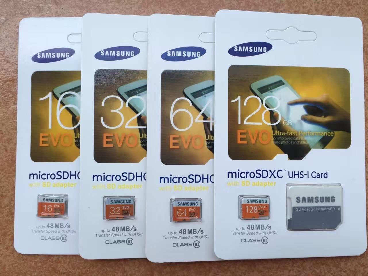 samsung evo micro sd memory card class 10 16gb 32gb 64gb 128gb